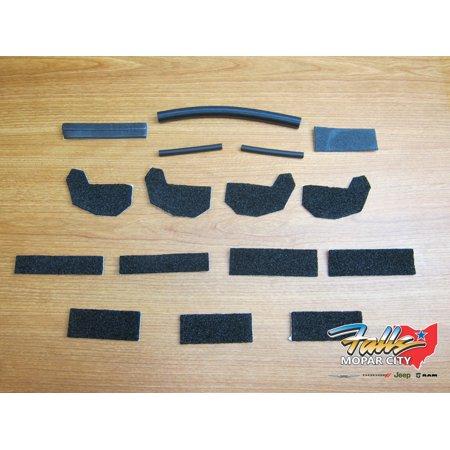 2011-2018 Jeep Wrangler JK Removable Hard Top Seal Kit Mopar OEM