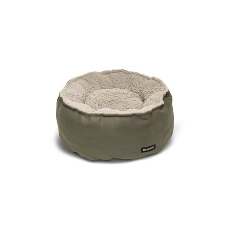 Big Shrimpy Catalina Plush Pet Bed For Cats And Small Dogs Stone Medium