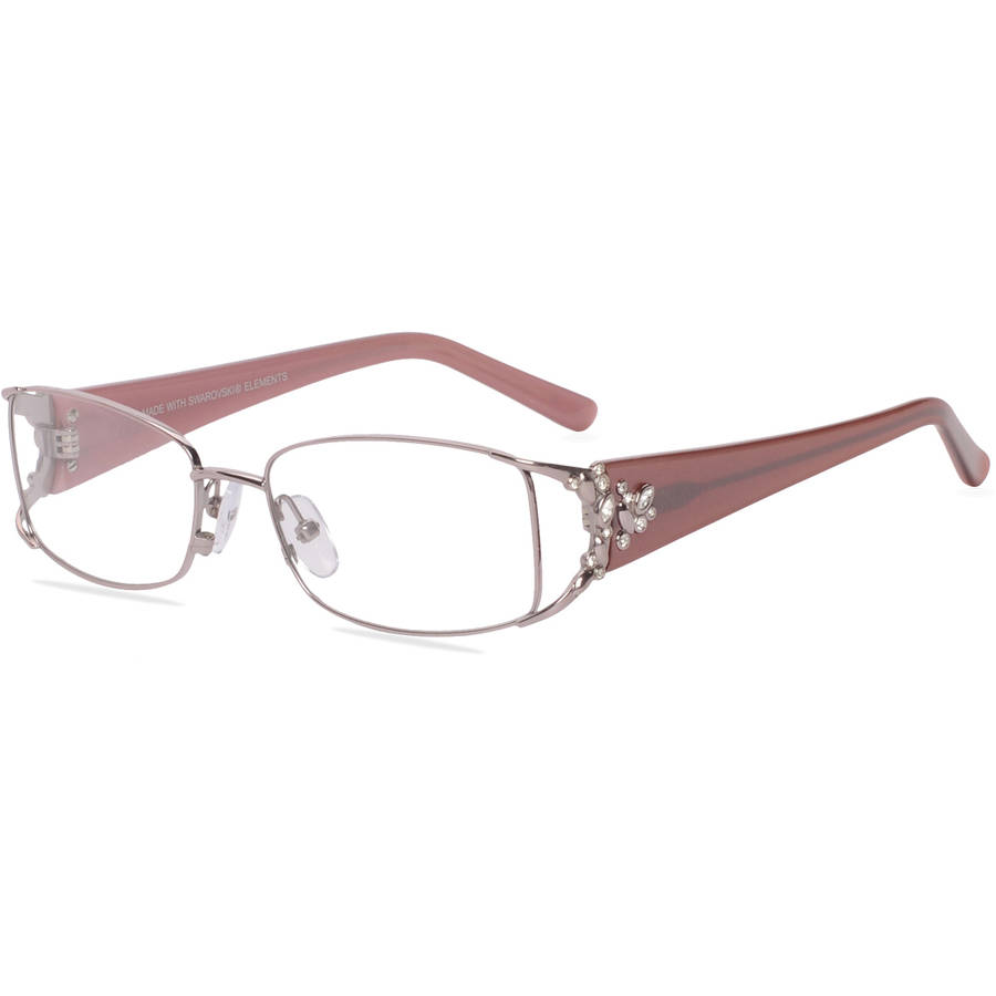 luxe womens prescription glasses wlo317 blush walmartcom