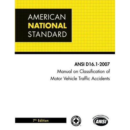 Manual on Classification of Motor Vehicle Traffic Accidents