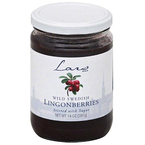 Lars Own Wild Swedish Lingonberries, 14 oz, (Pack of 6)