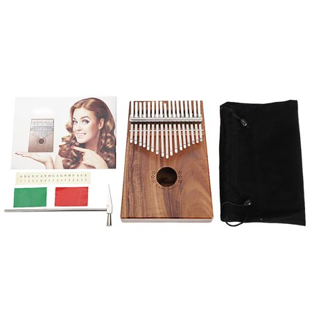 Ktaxon 17 Key Kalimba Finger Piano Koa Body with Tuning Hammer And More - Natural Color