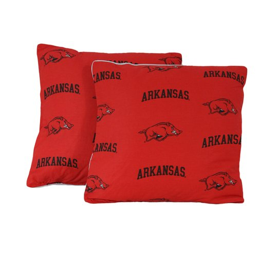 College Covers NCAA Arkansas Cotton Throw Pillow (Set of 2)