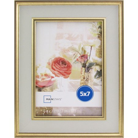 mainstays kristoff 5x7 white gold picture frame