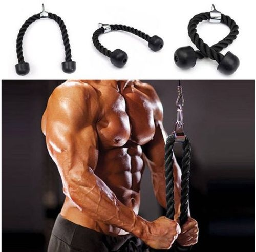Tricep Rope Push Pull Down Cord For Bodybuilding Exercise Gym Workout for Home