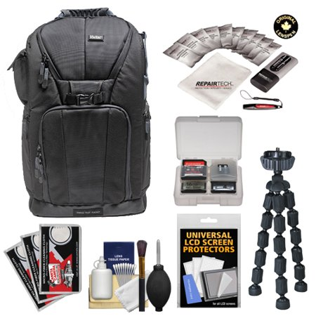 """Get Vivitar Series One Digital SLR Camera/Laptop Sling Backpack – Large (Black) Holds Most 17′"""" Laptops with Tripod + Cleaning Kits for Canon, Nikon, Olympus, Panasonic, Fuji & Sony Alpha Cameras Before Too Late"""
