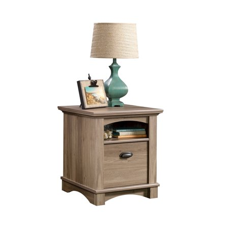 Sauder harbor view side table salt oak finish for Spl table 98 99
