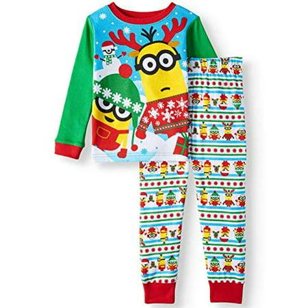 Minion Despicable me Little Boys Toddler Christmas Holiday Pajama Set (2t) - Little Me Christmas Pajamas