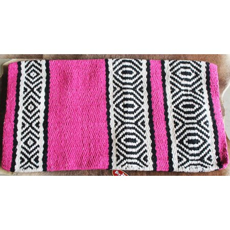 Horse Wool Western Show Trail SADDLE BLANKET Rodeo Pad Rug Pink 36268 (Horse Saddle Blanket Pad)