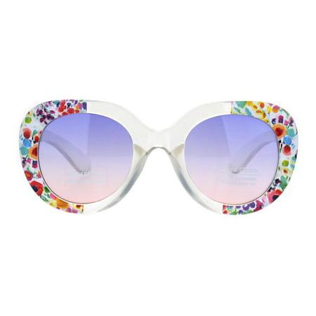 882819485 SA106 - Girls Child Size Thick Plastic Round Butterfly Designer Sunglasses  Flower Purple Pink - Walmart.com