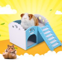 Yosoo 3Colors Pet Hamster Rat Small Animal Castle Sleeping House Nest Exercise Toy Pet House Guinea Pig House