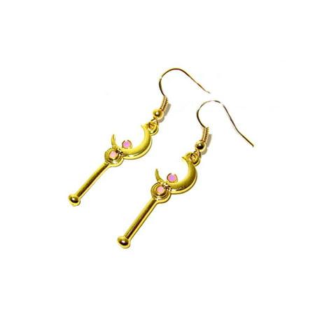 Dangle Earrings Sailor Moon Staff In Gift Box by Superheroes