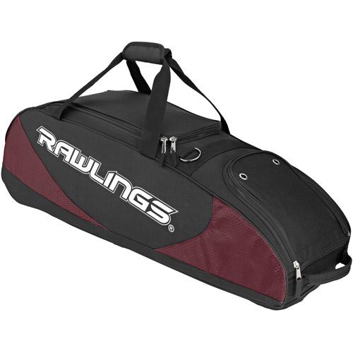Rawlings Wheeled Bat Bag, Maroon