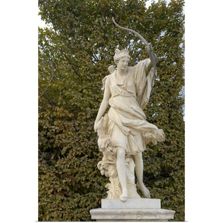 - Great BIG Canvas | Rolled Lisa S. Engelbrecht Poster Print entitled France, Versailles, marble statue in gardens