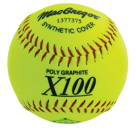 MacGregor Slow Pitch Softball X52SN, Yellow - 12 Pcs