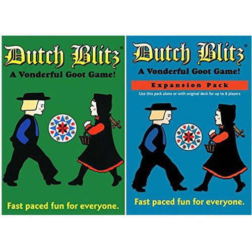 Dutch Blitz Original and Blue Expansion Pack Combo Card Game Set by Dutch Blitz Games