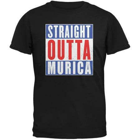 bac3e769 Straight Outta July 4th Murica Funny Black Adult T-Shirt - Walmart.com
