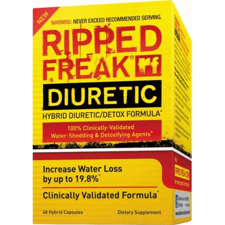 Pharmafreak Ripped FREAK DIURÉTIQUE - 48CT - Etats-Unis | L'eau hybride Délestage Diurétique et Detox Formula