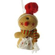 Cute Plush Gingerbread Girl Chef Christmas Ornament