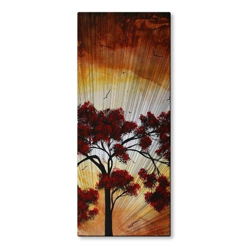 All My Walls Mad00143 Metal Wall Art Painting Modern Home Decor Abstract Wall Sculpture Homeward