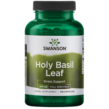 Swanson Holy Basil Leaf Capsules, 800 mg, 60 Ct