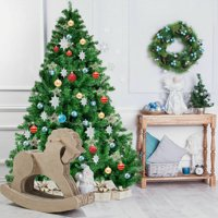 6FT Christmas Tree PVC Artificial 1000 Tips Premium Hinged w/ Metal Legs Home