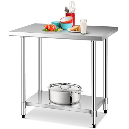 - Gymax 24'' x 36'' Stainless Steel Food Prep & Work Table Commercial Kitchen Worktable