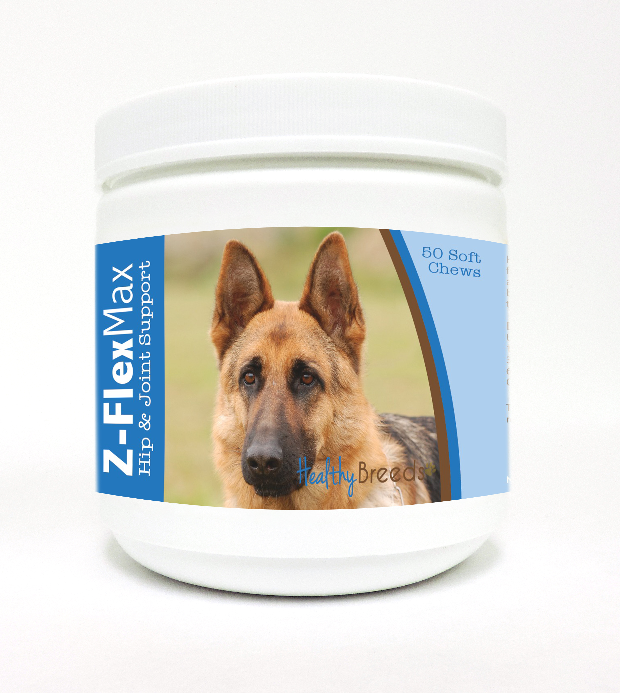 Healthy Breeds German Shepherd Z-Flex Max Dog Hip & Joint Support Soft Chews 50 Count