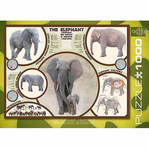 EuroGraphics The Elephant 1000-Piece Puzzle