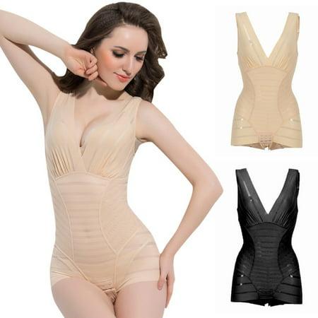 Women Firm Tummy Control Body Suit Shapewear Trainer Underwear Corset - Body Tri Suit
