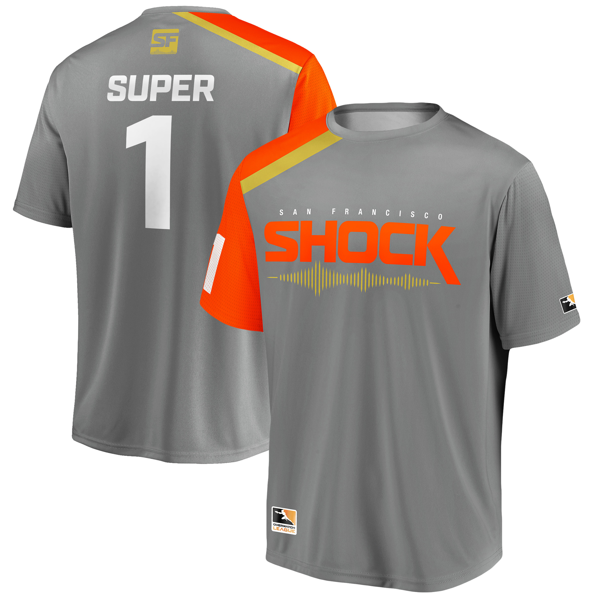 super San Francisco Shock Overwatch League Replica Home Jersey - Gray