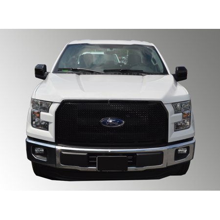 Fits 15-17 FORD F150 - Gloss Black ABS GRILLE Insert/Overlay ()