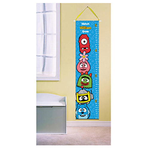 Personalized Yo Gabba Gabba! Faces Growth Chart