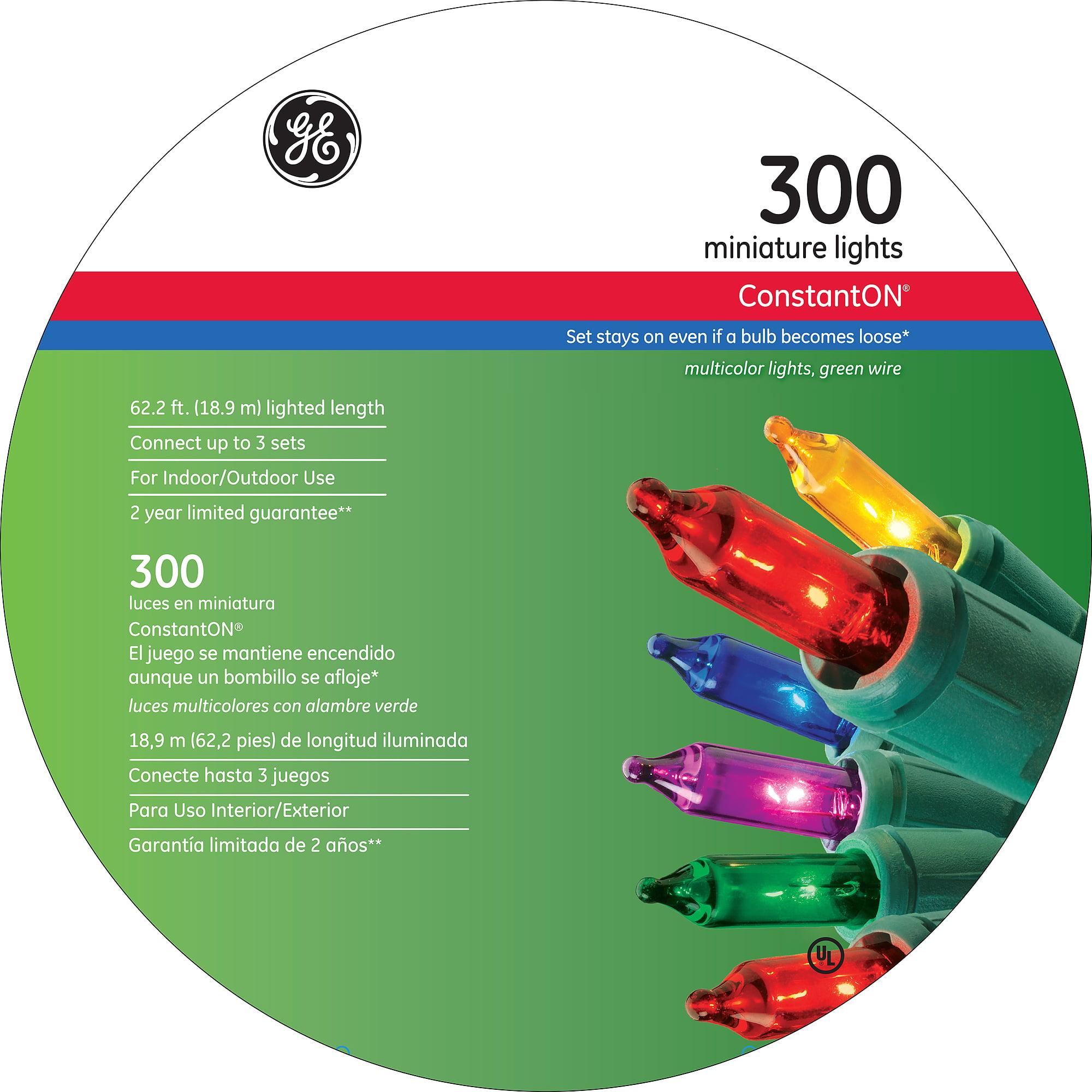 GE ConstantON Multi-Colored Miniature String Set, 300 Count