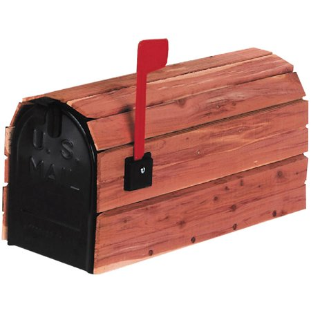 Solar Group Cc1r0000 Cedar Wrap Rural Mailbox
