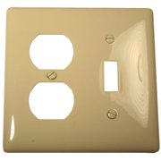 WALLPLATE MIDI 2 GANG DUPLEX/TOGGLE IVORY per 38 Each