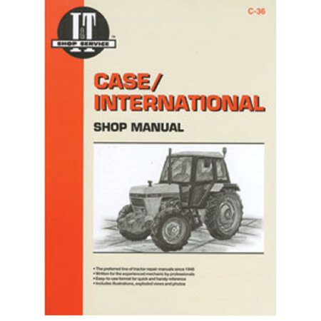 ITC36 New C-36 Shop Manual Made for Case-IH Tractor Models 1190 1194 1290 1294 + - Ih Shop Manual