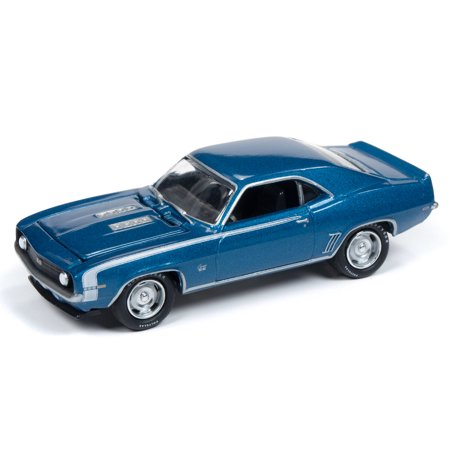 Johnny Lightning JLMC019 Muscle Car 1969 Chevy Camaro VER A LeMans Blue