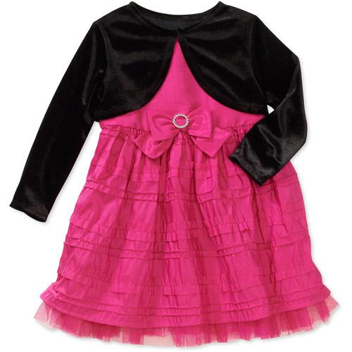George Baby Girls' 2-Piece Taffeta Holiday Dress with Shrug