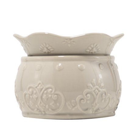 Better Homes & Gardens Candle and Wax Cube Warmer, Embossed Ceramic ()