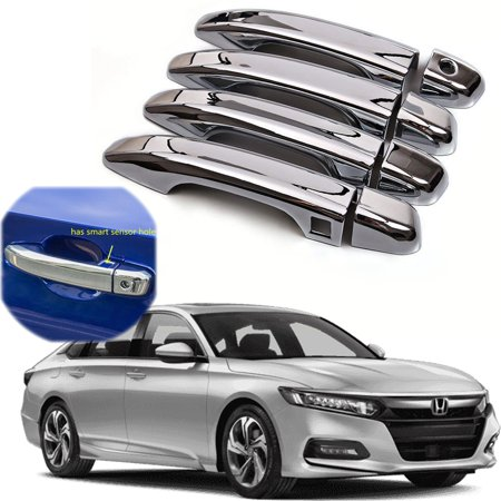 Xotic Tech Chrome ABS Car Door Handle Cover Protector Decor Sticker Trim for Honda Accord 10th 2018 - Honda Accord Door Trim