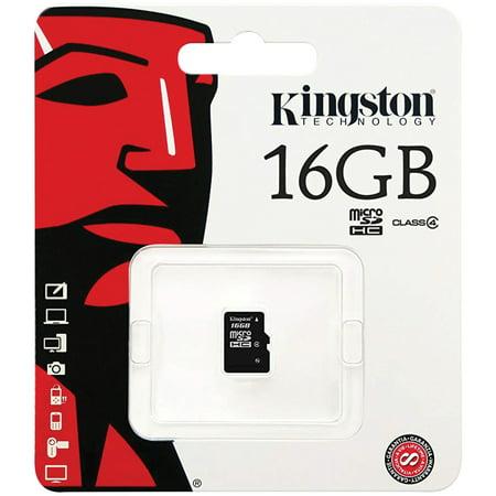 Kingston SDC4/16GBSP Class 4 microSDHC Card (16GB) ()