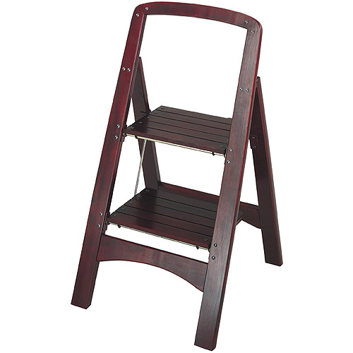 Cosco Rockford Series Two-Step Stool, Mahogany by Cosco Home and Office