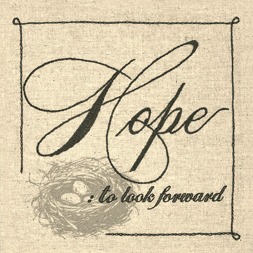 "Dimensions Handmade Collection Hope Sentiment Stamped Embroidery Kit-10""X10"""