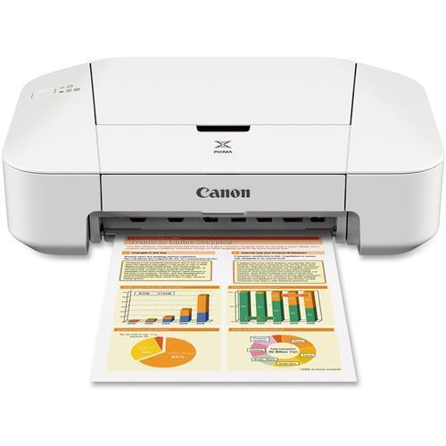 8745B002 Canon PIXMA iP IP2820 Inkjet Printer - Color - 4800 x 600 dpi Print - Plain Paper Print - Desktop - 8 ipm Mono Print / 4 ipm Color Print (ISO) - 60 sheets Input - Manual Duplex Print - USB