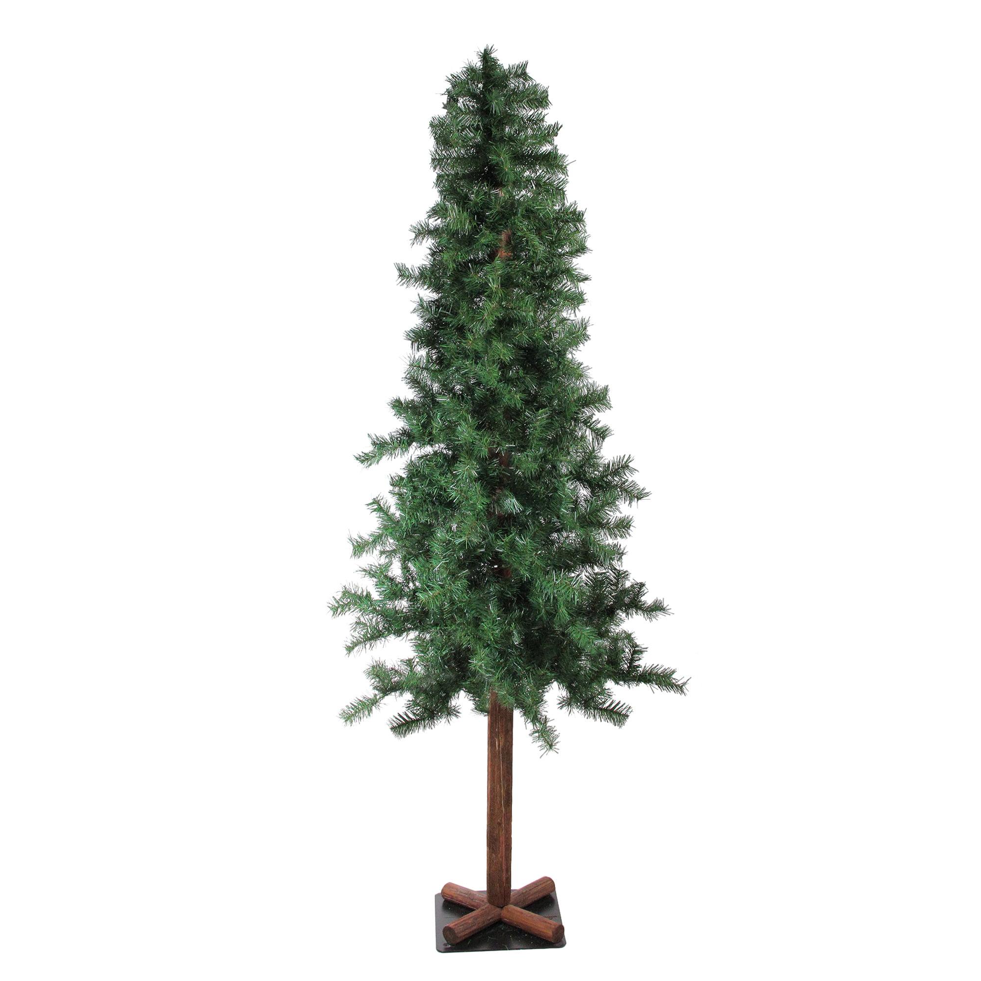 7' Traditional Woodland Alpine Artificial Christmas Tree ...