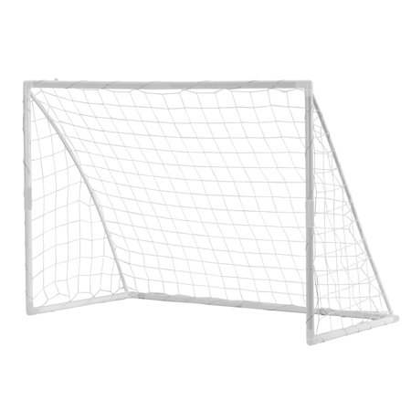 Soccer Ball Net - Woodworm 6' x 4' Portable Plastic Soccer Goal (Includes Net)
