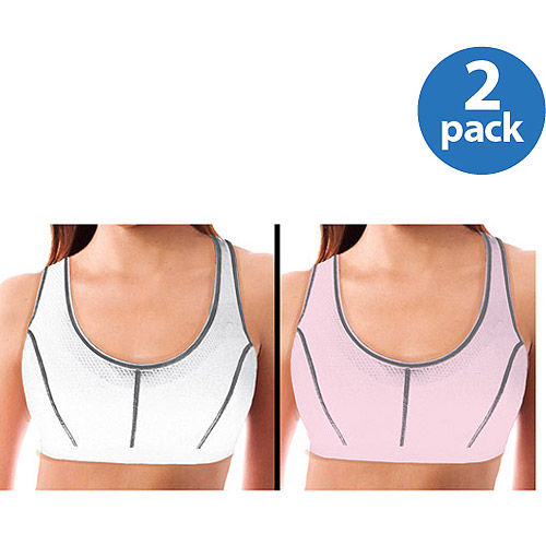 Danskin Now - Foam Sports Bras, 2-Pack-Medium Impact