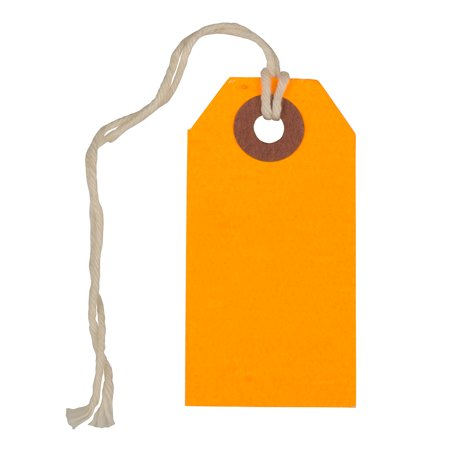 JAM Gift Tags with String, Neon Orange, 10/Pack, Tiny, 2 3/4 x 1 3/8 Even with their tiny size, the JAM Paper Gift Tags with String can make a big impact. You only need to set your imagination and creativity free.