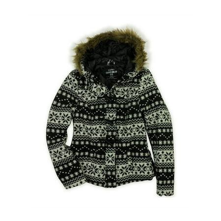 c1546cd1b1 Ecko Unltd. Womens Fairisle Fur Duffel Fleece Jacket black XS